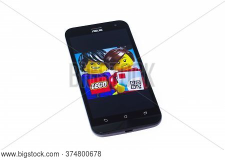 Kouvola, Finland - 23 January 2020: Lego App Logo On The Screen Of Smartphone Asus