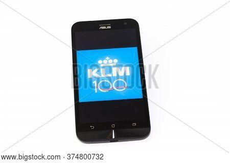 Kouvola, Finland - 23 January 2020: Klm App Logo On The Screen Of Smartphone Asus