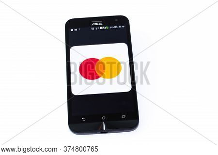 Kouvola, Finland - 23 January 2020: Mastercard Global Events App Logo On The Screen Of Smartphone As