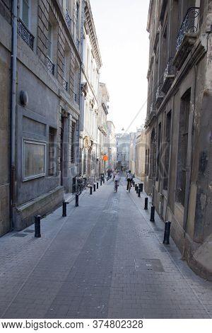 Bordeaux , Aquitaine / France - 11 07 2019 : Bordeaux Street Ancient In Town Center Gironde France