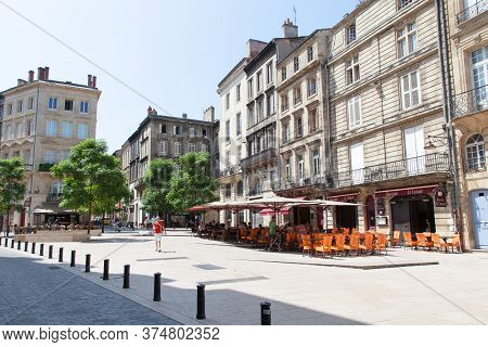 Bordeaux , Aquitaine / France - 10 30 2019 : Bordeaux Medieval Square Place Saint Pierre In City Cen