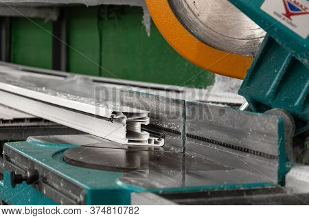 Pvc Window Production Tools On Mini Factory For Aluminum And Pvc Windows And Doors Production. Detai