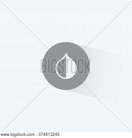 Invert Colors Icon Vector In Trendy Flat Style. Contrast, Hue, Saturation Symbol Illustration