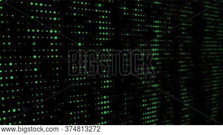 Matrix Abstract Glitch Green Background. Abstract Green Vector Illustration.