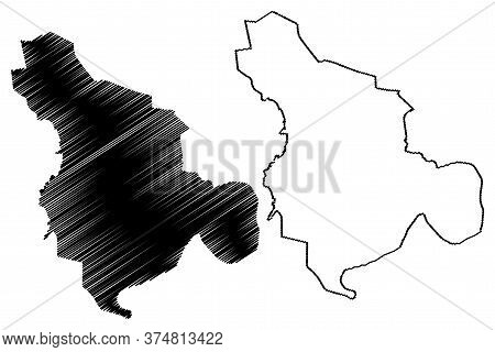 Isfahan City (islamic Republic Of Iran, Persia, Isfahan Province) Map Vector Illustration, Scribble