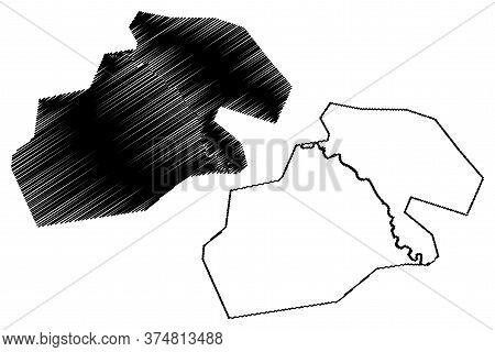 Kermanshah City (islamic Republic Of Iran, Persia, Kermanshah Province) Map Vector Illustration, Scr