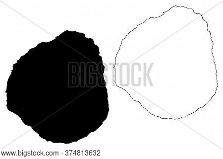 Fogo Island (republic Of Cabo Verde, Concelhos, Cape Verde, Island, Archipelago) Map Vector Illustra
