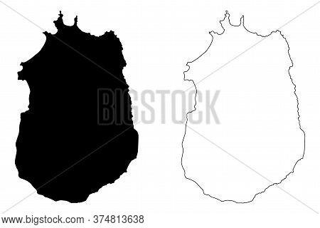 Maio Municipality (republic Of Cabo Verde, Concelhos, Cape Verde, Maio Island, Archipelago) Map Vect