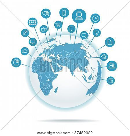 Abstract scheme of social media network