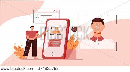 Photo Character Verification. Face And Fingerprint Identifier