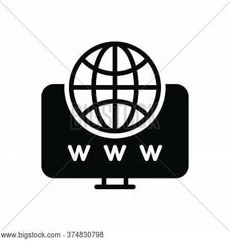 Black Solid Icon For Web Website Internet Social Globe Www