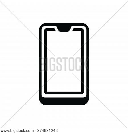 Black Solid Icon For Cell-phone Cell Phone Mobile Smartphone Electronic Gadget Wireless