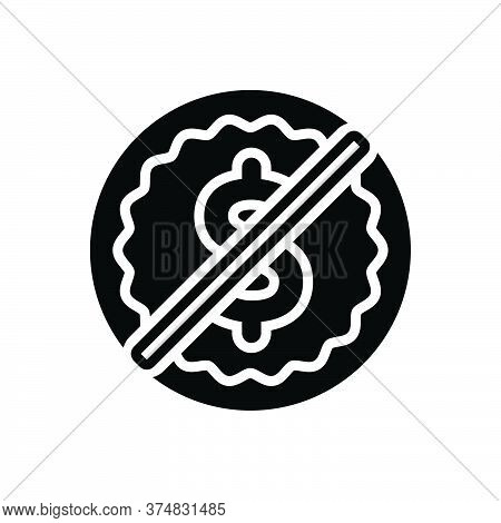 Black Solid Icon For Free Liberated Commercial Tag Label