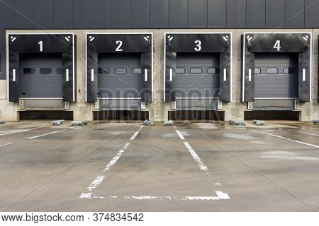 Industrial Docking Stations Of A Distribution Centre