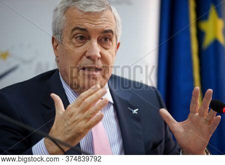 Bucharest, Romania - July 02, 2020: Calin Popescu Tariceanu, Leader Of Liberal Democrat Alliance (al