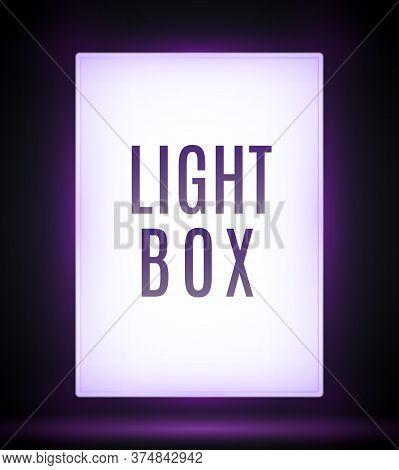 Isolated Billboard Lightbox Stand Outdoor Advertise Light Board. Citylight Lightbox Mockup Sign Glow