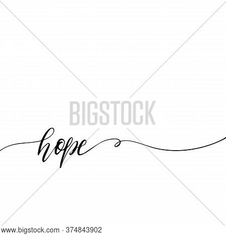 Simple Endless Hand Drawn Lettering. Print And Fashion Vector Design Template. Vector Illustration