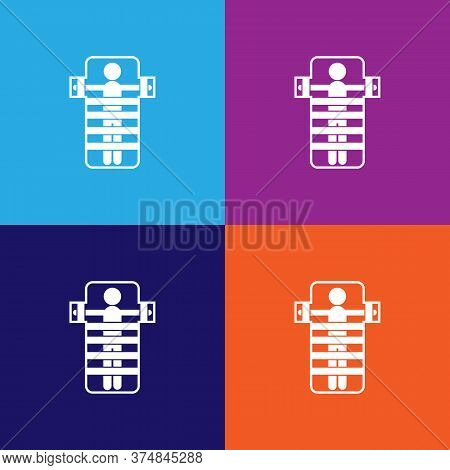 Mental Hospital Bed Icon Vector On Multicolored Background