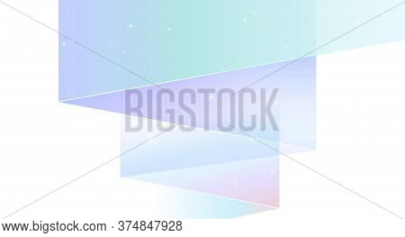 Northern Lights Abstract Vector Background Isolated On White - Modern Geometric Shapes