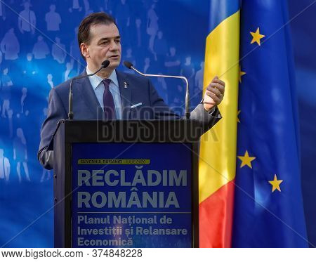 Bucharest, Romania - July 01, 2020: Ludovic Orban, President Of The National Liberal Party And Roman