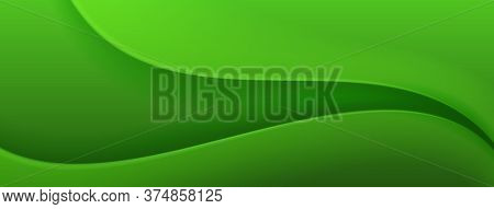 Abstract Background In Green Colors. Vector Illustration