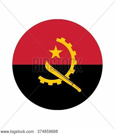 National Angola Flag, Official Colors And Proportion Correctly. National Angola Flag.