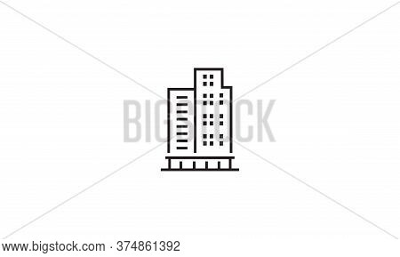 Hotel Building Icon. Simple Element Illustration. Hotel Building Symbol Design Template. Can Be Used
