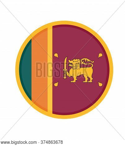 National Sri Lanka Flag, Official Colors And Proportion Correctly. National Sri Lanka Flag.