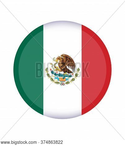 National Mexico Flag, Official Colors And Proportion Correctly. National Mexico Flag.