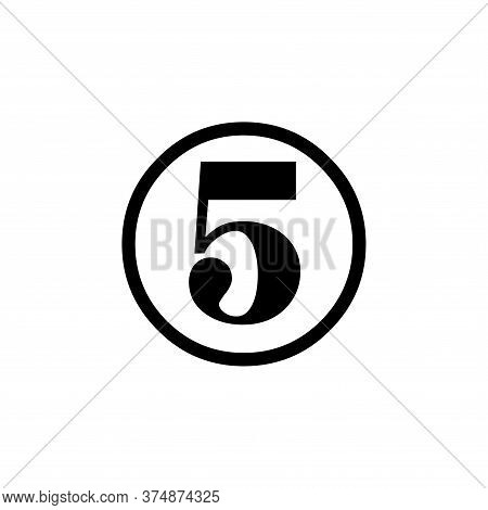 Number 5 Icon Simple Vector Sign And Modern Symbol. Number 5 Vector Icon Illustration, Editable Stro
