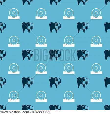 Set Dental Protection And Otolaryngological Head Reflector On Seamless Pattern. Vector