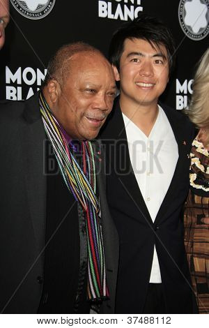 LOS ANGELES - OCT 2:  Quincy Jones, Lang Lang arrives at the 2012 Montblanc De La Culture Arts Gala at Chateau Marmont on October 2, 2012 in Los Angeles, CA