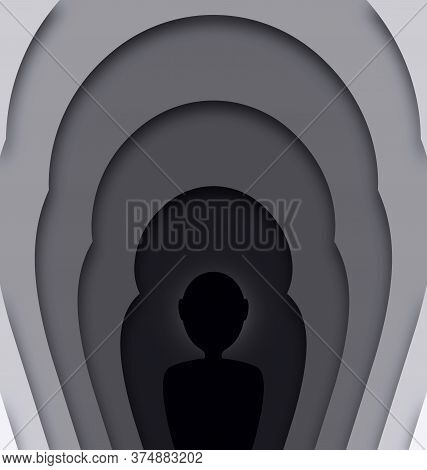 Abstract Gray Colored Image Of Silhouette And Frames