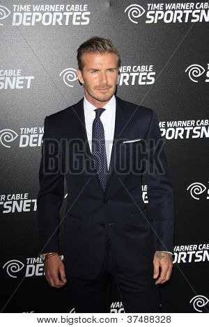 LOS ANGELES - OCT 1: David Beckham at the Time Warner Sports Launch of TWC Sportsnet and TWC Deportes Networks at TWC Sports Studios on October 1, 2012 in El Segundo, California