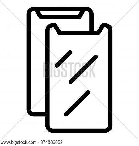 Secure Protector Glass Icon. Outline Secure Protector Glass Vector Icon For Web Design Isolated On W