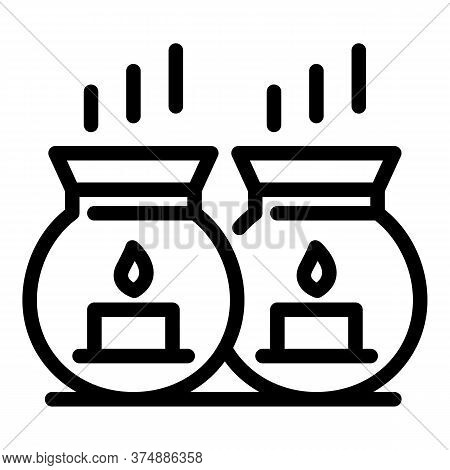 Bath Candles Icon. Outline Bath Candles Vector Icon For Web Design Isolated On White Background