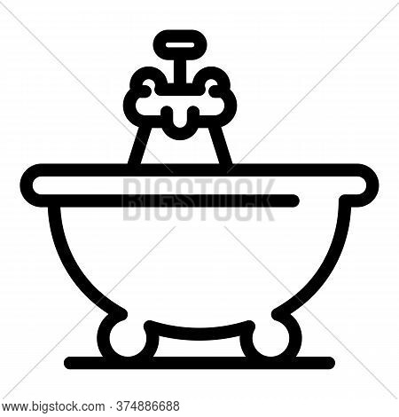 Bath Time Icon. Outline Bath Time Vector Icon For Web Design Isolated On White Background