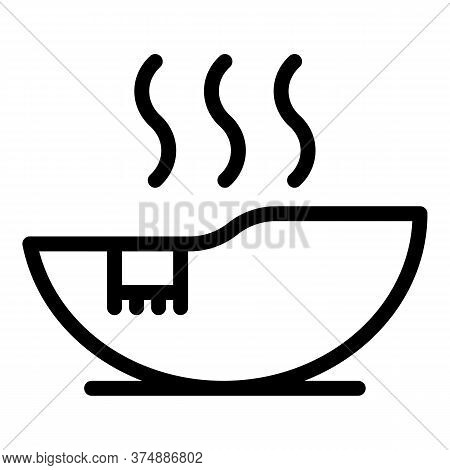 Hot Sauna Icon. Outline Hot Sauna Vector Icon For Web Design Isolated On White Background