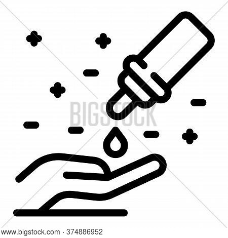 Hand Antiseptic Icon. Outline Hand Antiseptic Vector Icon For Web Design Isolated On White Backgroun