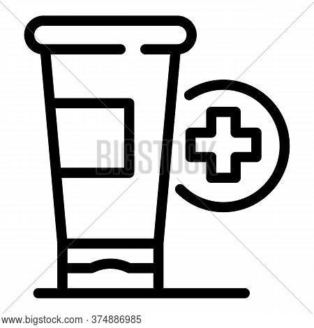 Medical Cream Icon. Outline Medical Cream Vector Icon For Web Design Isolated On White Background