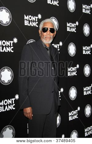 LOS ANGELES - OCT 2: Morgan Freeman at the Montblanc 2012 Montblanc De La Culture Arts Gala honoring Quincy Jones at Chateau Marmont on October 2, 2012 in Los Angeles, California