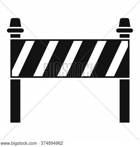 Road Construction Barrier Icon. Simple Illustration Of Road Construction Barrier Vector Icon For Web