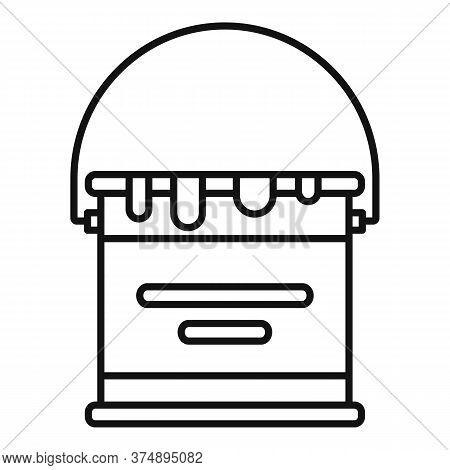 Reconstruction Paint Bucket Icon. Outline Reconstruction Paint Bucket Vector Icon For Web Design Iso