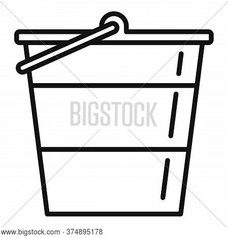 Reconstruction Metal Bucket Icon. Outline Reconstruction Metal Bucket Vector Icon For Web Design Iso