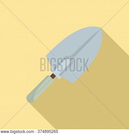 Tiler Trowel Icon. Flat Illustration Of Tiler Trowel Vector Icon For Web Design