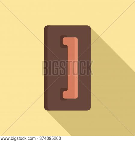 Wood Trowel Icon. Flat Illustration Of Wood Trowel Vector Icon For Web Design