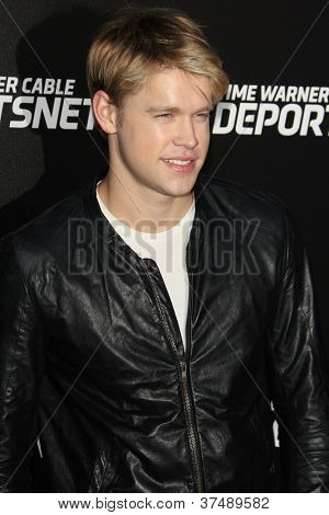 LOS ANGELES - OCT 30:  Chord Overstreet arrives at the Time Warner Sports Launch of TWC Sportsnet at TWC Sports Studios on October 30, 2012 in El Segundo, CA