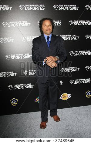 LOS ANGELES - OCT 30:  Cobi Jones arrives at the Time Warner Sports Launch of TWC Sportsnet at TWC Sports Studios on October 30, 2012 in El Segundo, CA