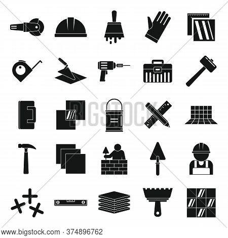 Tiler Icons Set. Simple Set Of Tiler Vector Icons For Web Design On White Background