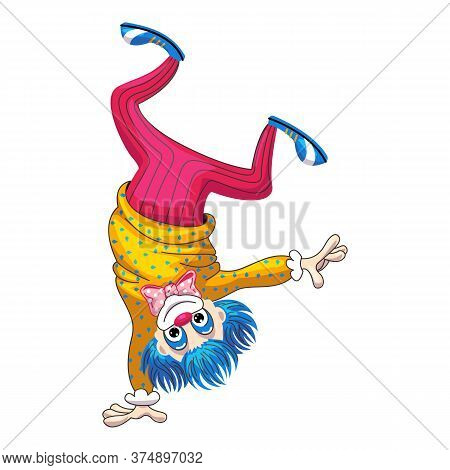 Clown One Hand Icon. Cartoon Of Clown One Hand Vector Icon For Web Design Isolated On White Backgrou